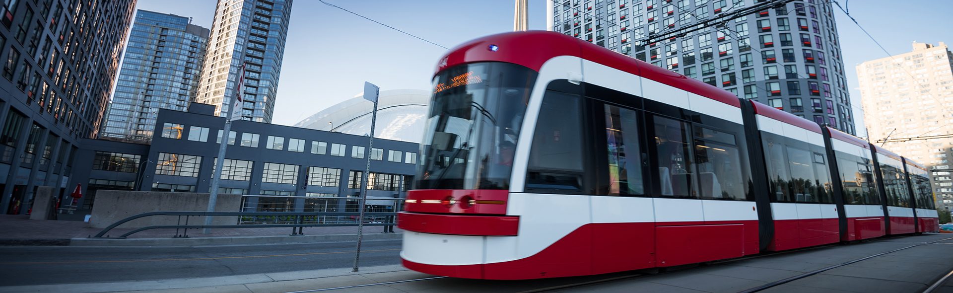 Modern Toronto street car